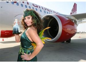 The Green Fairy Flies Virgin America