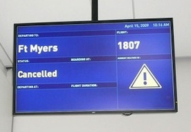 Hurricane Sandy Causing Flight Delays and Cancellations
