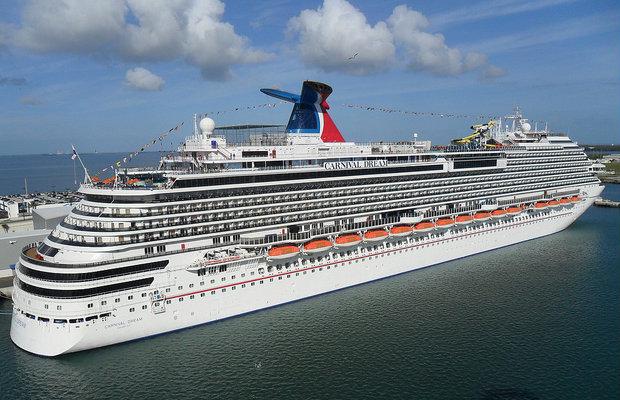 Carnival Dream Stranded in Caribbean