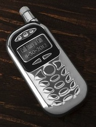SkyMall Tuesday: Personalized Cell Fone Flask