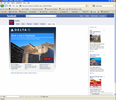 Delta Ticket Window Opens for Business on Facebook