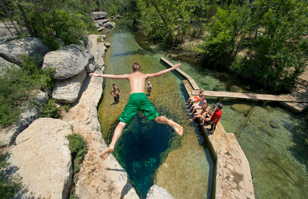 Inspired Travel: Jacob's Well, Texas Hill Country