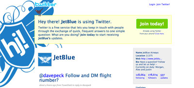 Tweeting Saves Money in the Air