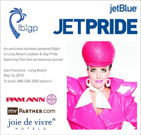 Fly JetPride Flight #1969 to Long Beach on May 7