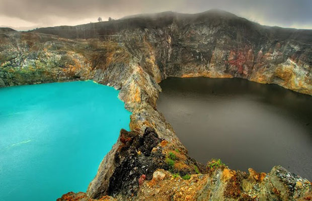 Inspired Travel: Mt. Kelimutu's Colored Lakes