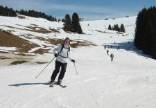 Skiing in Megève, France