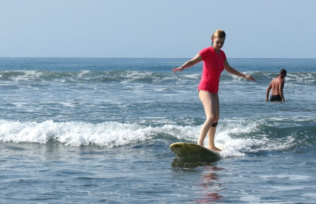 Overcoming Clumsiness: Learning to Surf in Costa Rica