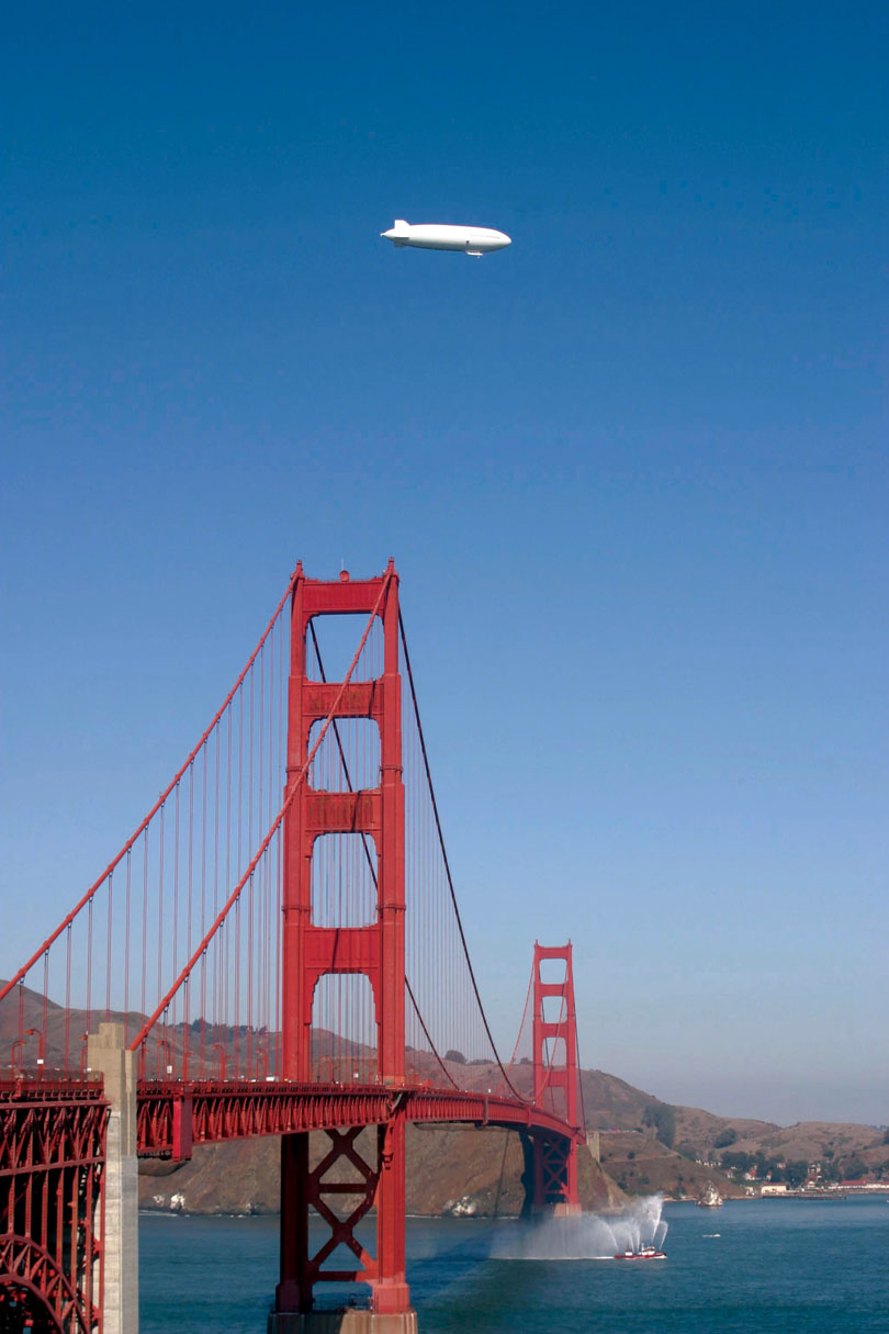 Soar High Above San Francisco in a Zeppelin