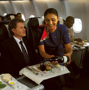 In-Flight Wine Service Scores High Marks