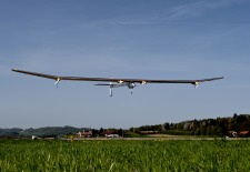 Solar-Powered Plane Completes First International Flight