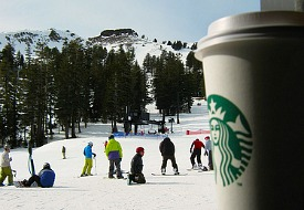 The First Ski-In/Ski-Out Starbucks Opens in Squaw Valley