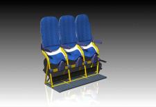 Aviointeriors Debuts Near-Vertical Airline Seats