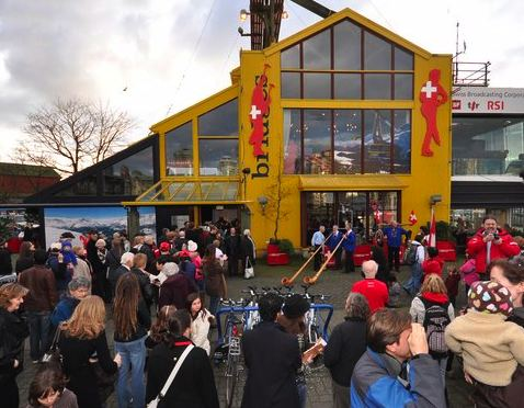 Granville Island Goes Swiss During Olympics