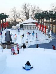 Glide Around Temporary Ice Skating Rinks