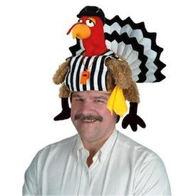 SkyMall Tuesday: Plush Turkey Referee Hat