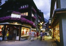 After Dark: Shopping and Dinner in Zermatt